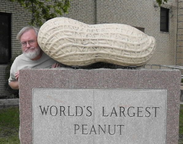 author with the world's largest peanut